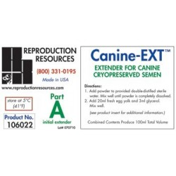 Canine EXT Extender - Cryopreservation Part A