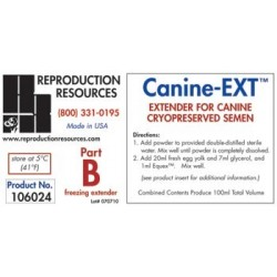 Extender, Canine EXT - Cryopreservation Part B