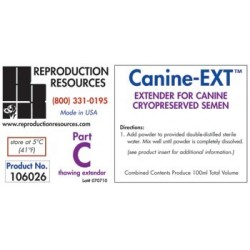 Canine EXT Extender - Cryopreservation Part C