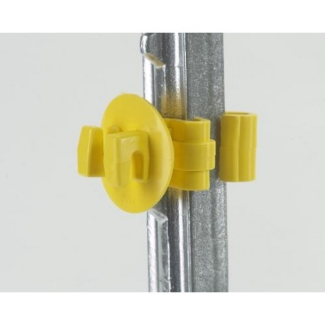 Dare Snug T-Post Insulator YELLOW 25ct
