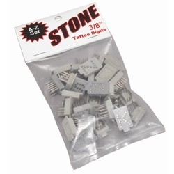 "Stone Tattoo Digits Complete ALPHABET 3/8""    4105"