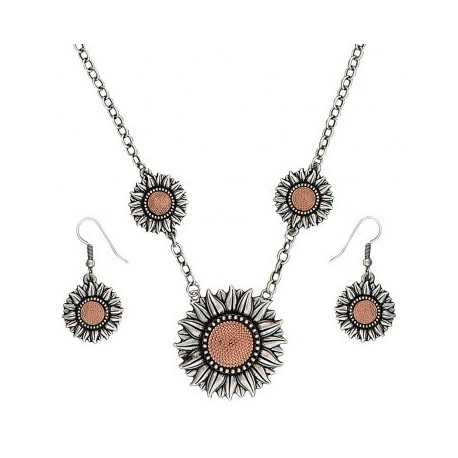 JS1659 Ring of Fire Sunflower Bouquet Jewelry Set