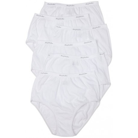 Fruit of Loom Underwear Womens Classic White Size 6  6pack  6D22130