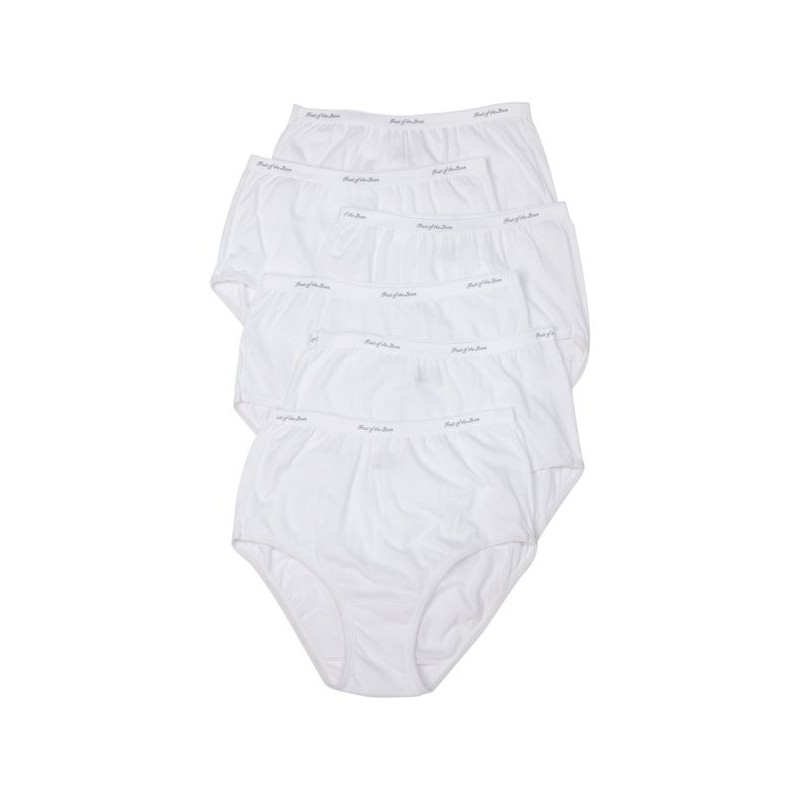 Fruit Of Loom Underwear Womens Briefs Classic White 6pack