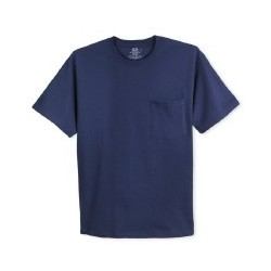 Fruit of Loom Navy T Shirt with Pocket 59YPIP