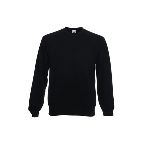 Fruit of Loom Crew Neck Sweatshirt-Adult  (black) 1636