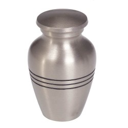 Jorgy Pet Cremation Urn Pewter small