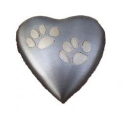 Jorgy Pet Cremation Urn Odyssey Heart Double Paws small