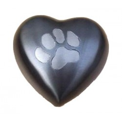 Jorgy Pet Cremation Urn Odyssey Heart Single Paw large