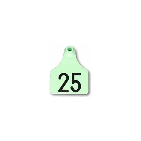 Allflex Global Large Numbered Tags GREEN 25ct