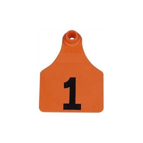 Allflex Global Large Numbered Tags ORANGE 25ct