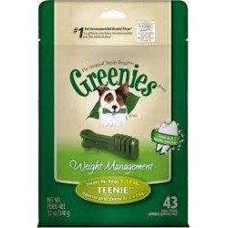 Greenies Weight Management Treat Paks Teenie 43ct
