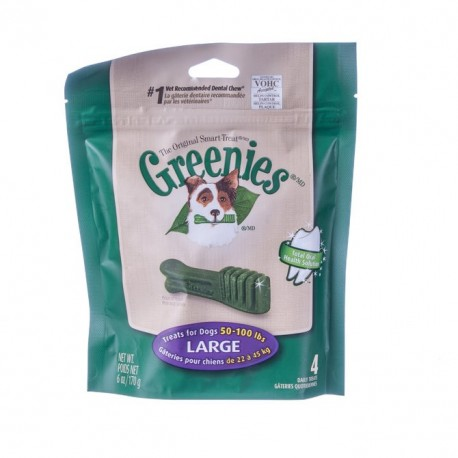 Greenies Dental Chews  Mini Treat Paks Large 4ct