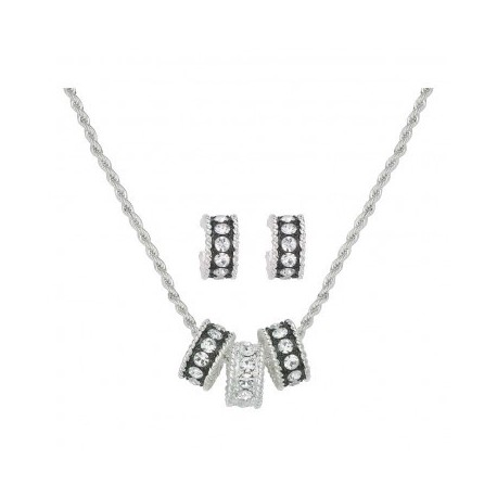 JS1032 Crystal Shine Jewelry Set