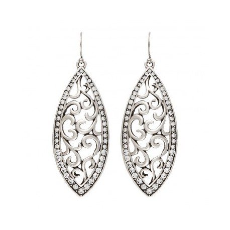 ER2075R47 Rock 47  Knotted Lace Marquis Earrings
