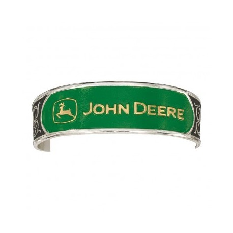 BC61574JD Silver and Gold John Deere Cuff Bracelet