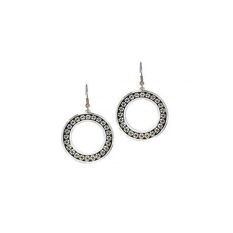 ER1071 Black Berries Western Loop Earrings