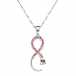 NC1135 Pink Ribbon Shaped Horseshoe Nail