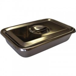 J0393A Stainless Steel Instrument Tray w/Lid