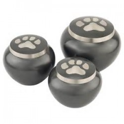 Jorgy Pet Cremation Urn Odyssey Round Single Paw small