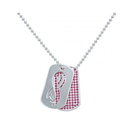NC1235 Breast Cancer Awareness Dogtags Necklace