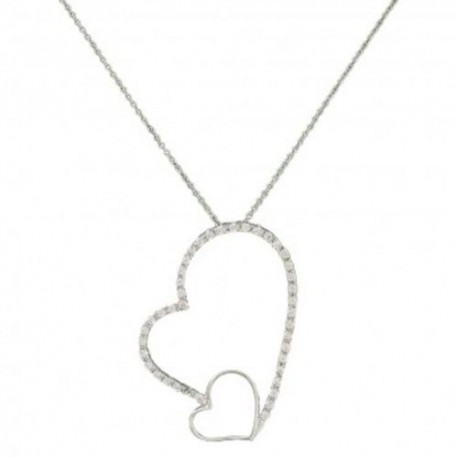 NC2517  Love Casts a Big Light Heart  Necklace