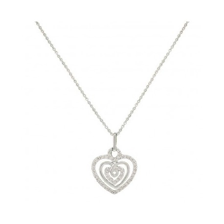 NC2514 Triple the Love Heart Necklace