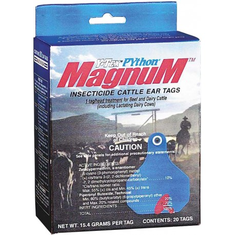 Python Magnum Insecticide Tags 20ct