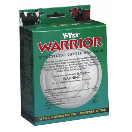 Warrior Insecticide Tags 20ct