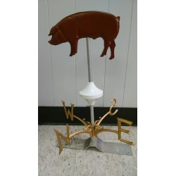 Weathervane Duroc Pig -red
