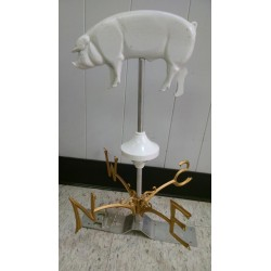 Weathervane Pig - white