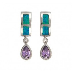 ER2538 River Lights Purple Tears Earrings