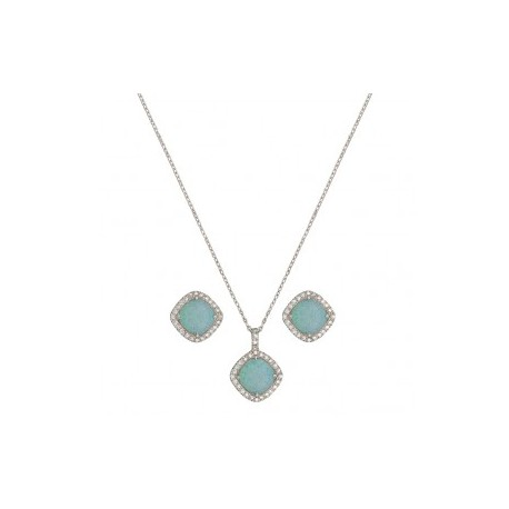 JS2539 River Lights Pools in Winter Jewelry Set