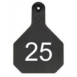 Y-Tex Large Cattle Tag Black Numbered
