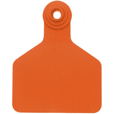 Z Tag No Tear Tags 2-piece LARGE Orange Blank 25ct
