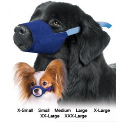 Four Flags Color Coded Quick Muzzle for Dogs, 7-Muzzle Set
