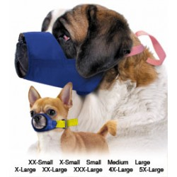 Four Flags Color Coded Quick Muzzle for Dogs, 10-Muzzle Set