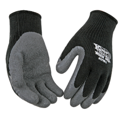 Kinco Thermal Lined Black/Gray Coated Gloves LARGE pair 1790L