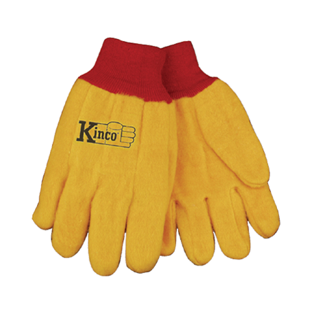 Kinco Chore Cotton Yellow Gloves XLARGE pair 814-XL