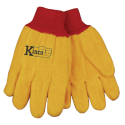 Kinco Chore Cotton Yellow Gloves LARGE pair 814-L
