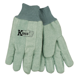 Kinco Chore Cotton Green Gloves LARGE pair 818-L
