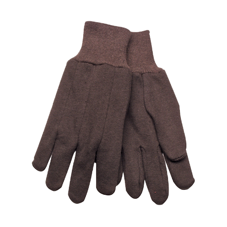 Kinco Brown Jersey Gloves LARGE pair 820LG