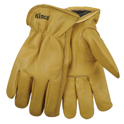 Kinco Lined Grain Cowhide LARGE gloves pair 98RL-L