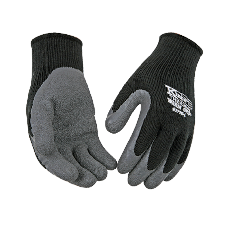 Kinco Thermal Lined Black/Gray Coated Gloves Medium pair 1790M 12ct