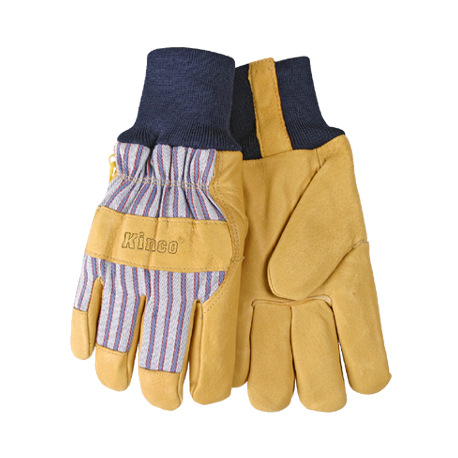 Kinco Lined Pigskin Knit Cuff Small Gloves 1927KW-S 12ct