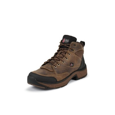Justin Distressed Tan Jaguar Stampede Casual Boots - Women's
