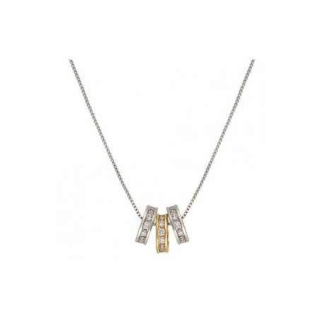 NC2748 Two-Tone Triple Shine Necklace