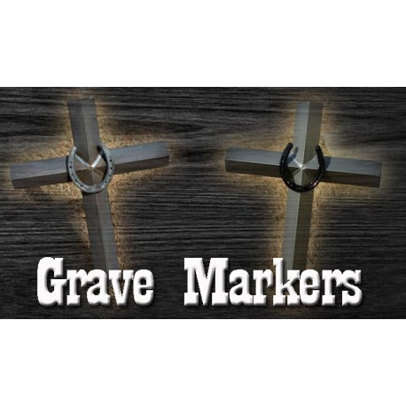 Hot Heels Cross Grave Marker Painted