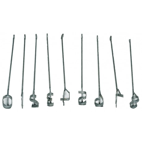 "Stainless Steel Fire Brands 4"" Set"