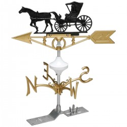 Weathervane Doctor, Horse, and Buggy